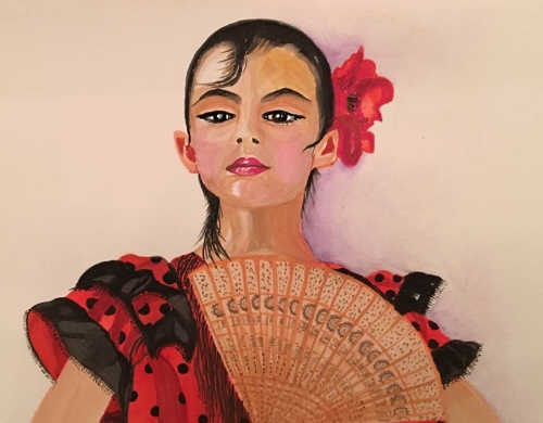 Young Flamenco Dancer